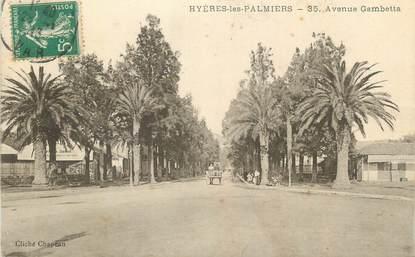 "CPA FRANCE 83 "" Hyères Les Palmiers, Avenue Gambetta""."