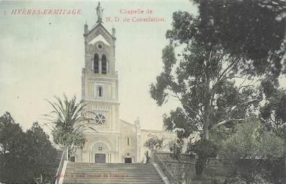 """CPA FRANCE 83 """" Hyères Ermitage, Chapelle de Notre Dame de Consolation""""."""