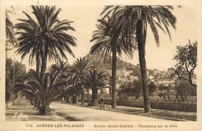 """CPA FRANCE 83 """" Hyères Les Palmiers, Avenue Godillot""""."""