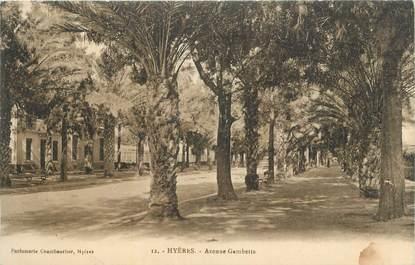 """CPA FRANCE 83 """" Hyères, Avenue Gambetta""""."""