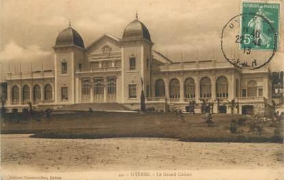 "CPA FRANCE 83 "" Hyères, Le grand casino""."