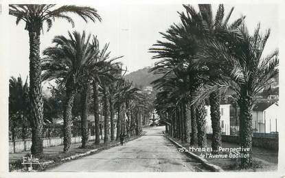 """CPSM FRANCE 83 """" Hyères, Perspective de l'Avenue Godillot""""."""
