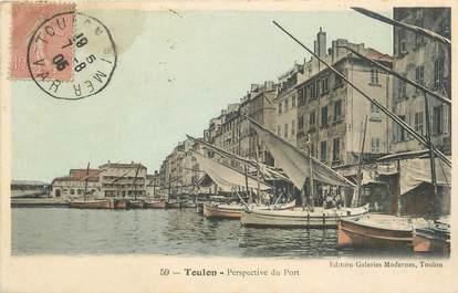 """CPA FRANCE 83 """"Toulon, Perspective du port""""."""