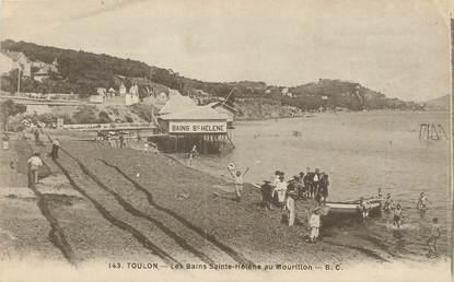 """CPA FRANCE 83 """"Toulon, Les bains Ste Hélène au Mourillon""""."""