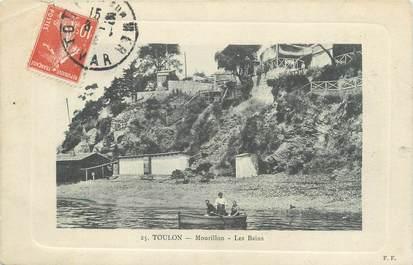 """CPA FRANCE 83 """"Toulon, Mourillon, Les bains""""."""