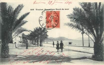 """CPA FRANCE 83 """"Toulon, Mourillon bord de mer""""."""