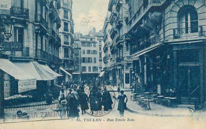"CPA FRANCE 83 ""Toulon, Rue Emile Zola""."