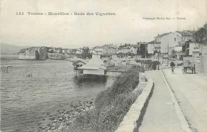 """CPA FRANCE 83 """"Toulon Mourillon, Rade des vignettes""""."""