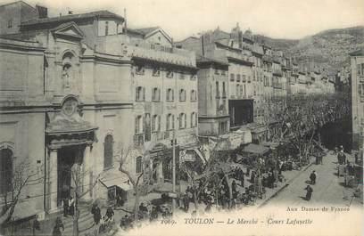 """CPA FRANCE 83 """"Toulon, Le marché cours Lafayette""""."""