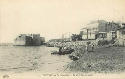 """CPA FRANCE 83 """"Toulon, Le Mourillon, Le fort St Louis""""."""