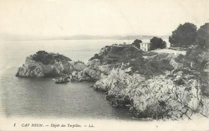 """CPA FRANCE 83 """"Toulon, Cap Brun, Dépôt des torpilles""""."""