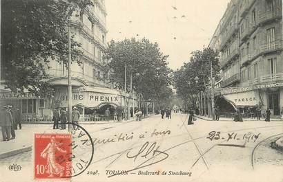 "CPA FRANCE 83 ""Toulon, Boulevard de Strasbourg""."
