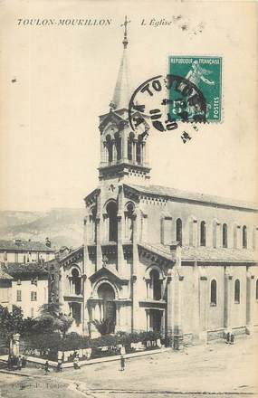 "CPA FRANCE 83 ""Toulon Mourillon, L'église""."