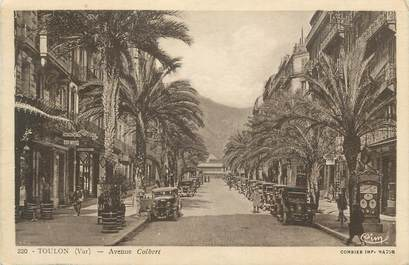 "CPA FRANCE 83 ""Toulon , Avenue Colbert""."