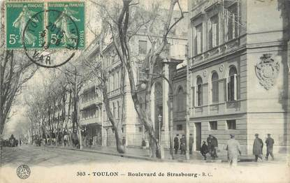"CPA FRANCE 83 ""Toulon , Boulevard de Strasbourg""."