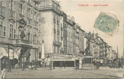 """CPA FRANCE 83 """"Toulon , Quai Cronstadt""""."""