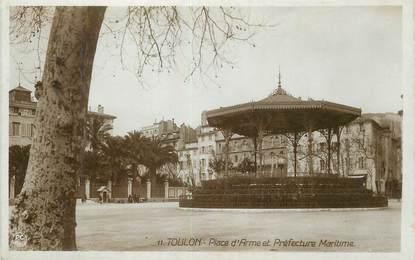 """CPSM FRANCE 83 """"Toulon, Place d'Armes et Préfecture Maritime""""."""