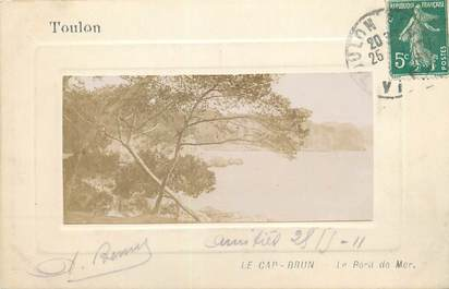 "CARTE PHOTO FRANCE 83 ""Toulon, Le Cap Brun, le bord de mer""."