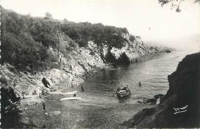 """CPSM FRANCE 83 """" Ile du Levant, Plage Rioufrède""""."""