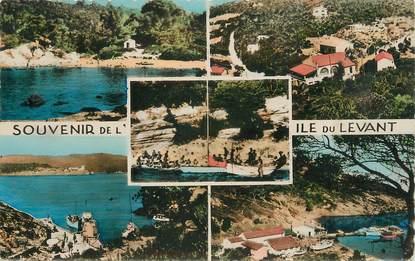 """CPSM FRANCE 83 """" Ile du Levant, Vues""""."""