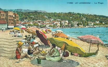 """CPA FRANCE 83 """" Le Lavandou, La plage""""."""