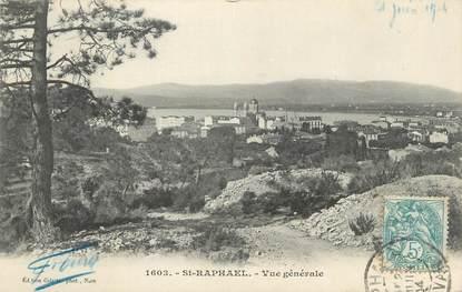 """CPA FRANCE 83 """" St Raphaël, Vue générale""""."""