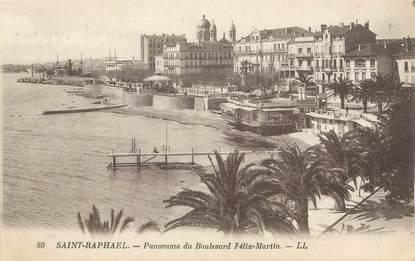 "CPA FRANCE 83 "" St Raphaël, Panorama du Boulevard Félix Martin""."