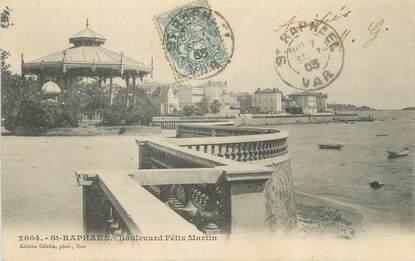 "CPA FRANCE 83 "" St Raphaël, Boulevard Félix Martin""."