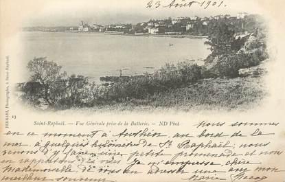 """CPA FRANCE 83 """" St Raphaël, Vue générale prise de la Batterie""""."""