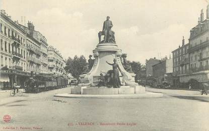 """CPA FRANCE 26 """"Valence,  Monument Emile Augier"""""""