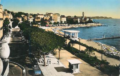 "CPSM FRANCE 83 "" St Raphaël, La promenade""."