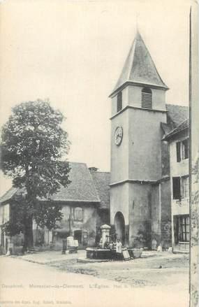 """CPA FRANCE 38 """"Monestier de Clermont, L'église """"."""