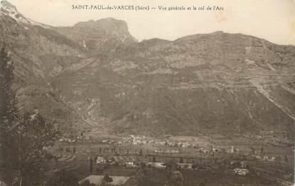 """CPA FRANCE 38 """"St Paul de Varces, Vue générale et le Col de l'Arc'."""