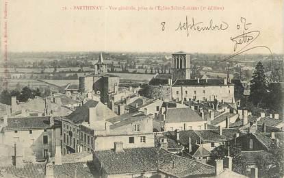 """CPA FRANCE 79 """"Parthenay, Vue générale prise de l'église St Laurent""""."""