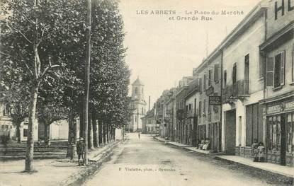 """CPA FRANCE 38 """"Les Abrets, La place du marché""""."""