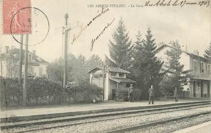 "CPA FRANCE 38 ""Les Abrets Fitilieu, La gare""."