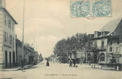 """CPA FRANCE 38 """"Les Abrets, Route de Lyon""""."""