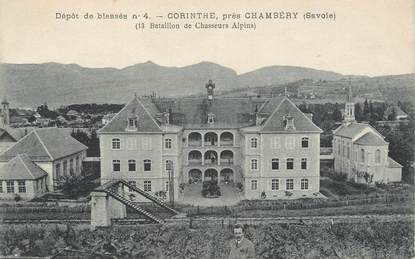 "CPA FRANCE 73 "" Chambéry, Corinthe bataillon des Chasseurs Alpins""."