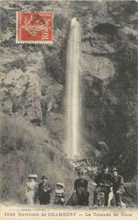 "CPA FRANCE 73 "" Environs de Chambéry, La cascade de Couz""."