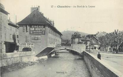 """CPA FRANCE 73 """" Chambéry, Au bord de la Leysse""""."""