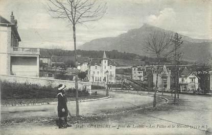 """CPA FRANCE 73 """" Chambéry, Pont de Lemenc, les villas et le Nivolet""""."""