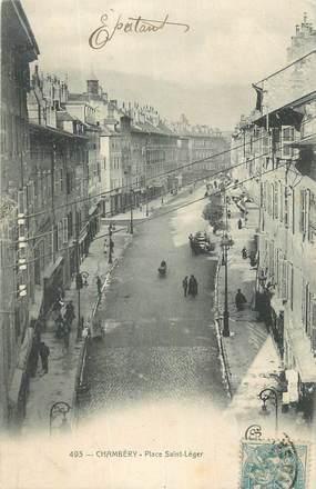 "CPA FRANCE 73 "" Chambéry, Place St Léger""."