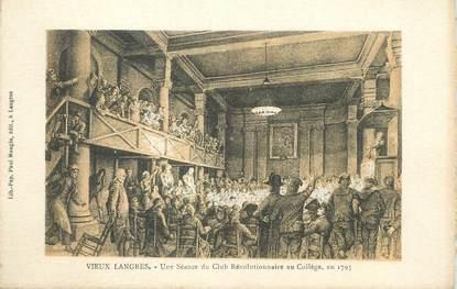 """CPA FRANCE 52 """" Vieux Langres, Une séance du Club Révolutionnaire au collège en 1793""""."""