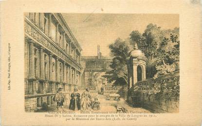 """CPA FRANCE 52 """" Vieux Langres, Maison renaissance située rue du Cardinal Morlot""""."""