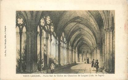 """CPA FRANCE 52 """" Vieux Langres, Partie sud du cloître des Chanoines """"."""