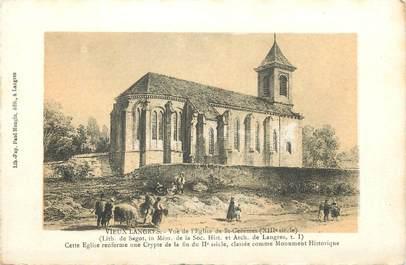 """CPA FRANCE 52 """" Vieux Langres, Vue de l'église de St Geosmes""""."""