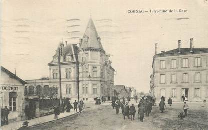 """CPA FRANCE 16 """" Cognac, Avenue de la gare""""."""