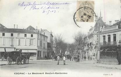 "CPA FRANCE 16 "" Cognac, Le Boulevard Denfert Rochereau""."