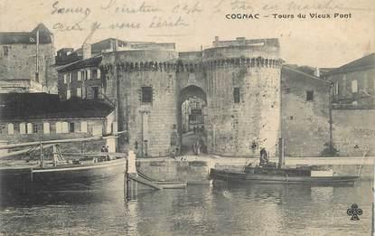 """CPA FRANCE 16 """" Cognac,Tours du vieux pont""""."""