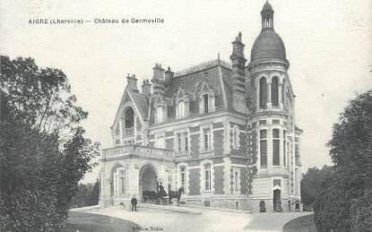"""CPA FRANCE 16 """" Aigre, Château de Germeville""""."""